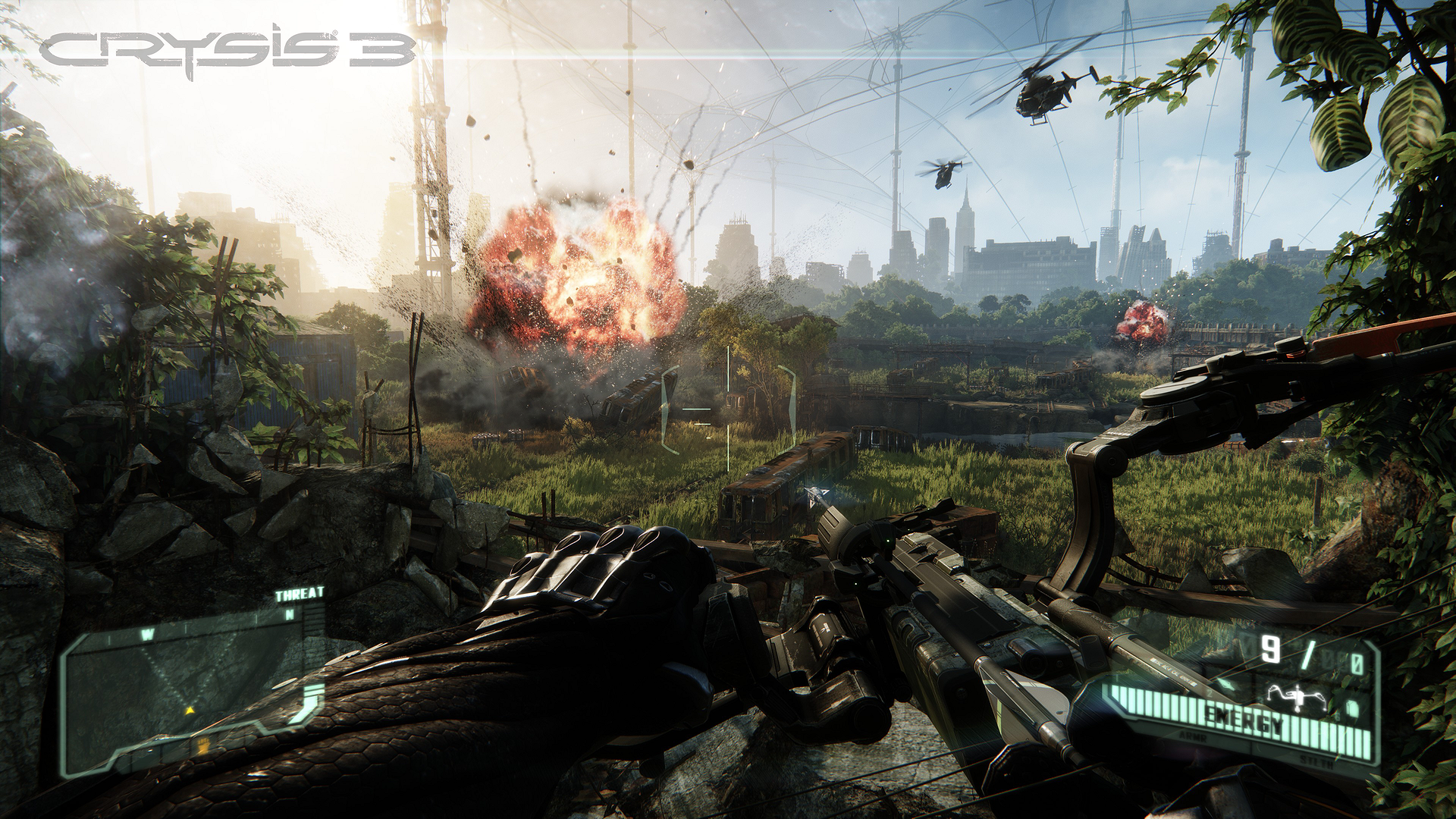 Crysis 3 Explosions Beneath the Liberty Dome