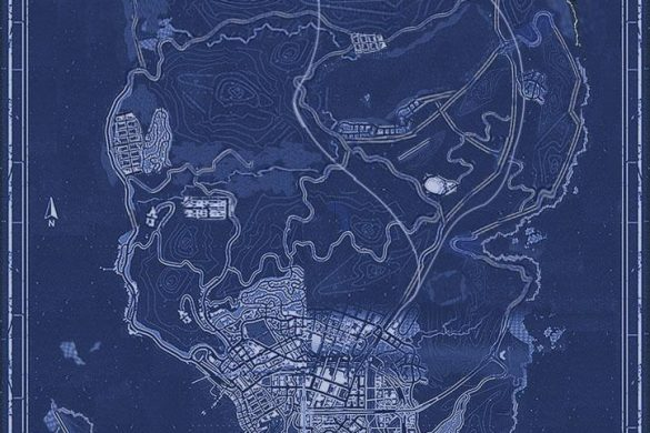 Complete 'Grand Theft Auto V' map revealed