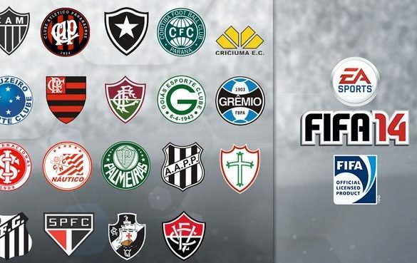 EA's FIFA 14 features 19 officially licensed Brazilian Clubs