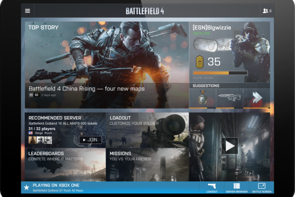 STAY CONNECTED TO BATTLEFIELD 4 WITH BATTLELOG