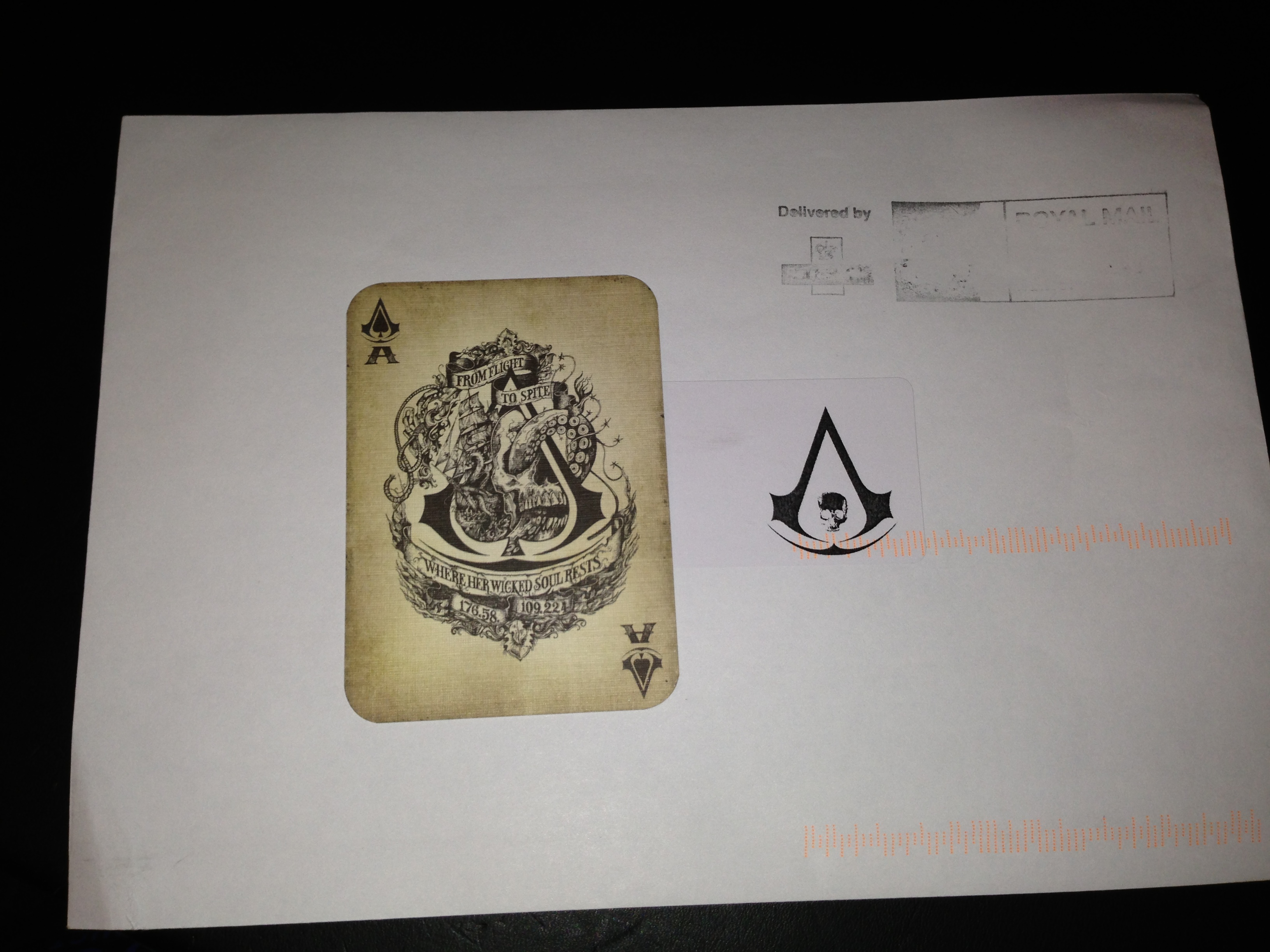 Assasins Creed Black Flag secret Ace Card